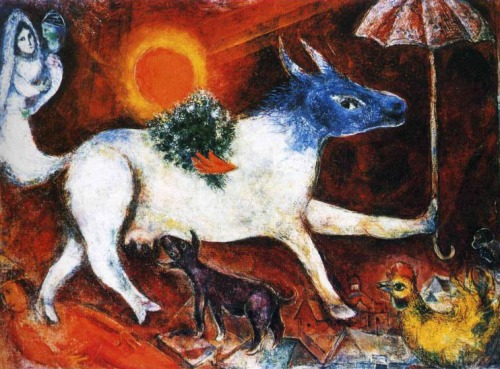 Marc Chagall. 1946 Place of Creation: United States. oil on canvas Dimensions: 77.5 x 106 cm. Private Collection